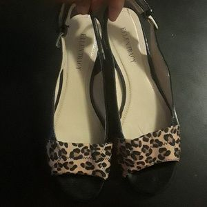 Patent Leather And Animal Print Sandals
